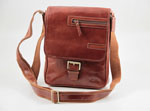 Unisex leather shoulder bag