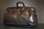 Leather travel trolley small