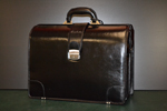 Leather doctor briefcase