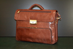 Leather briefcase sporty