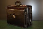 Pilot leather briefcase