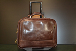 Leather business case trolley