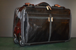 Leather travel trolley
