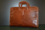 Document case with two compartments