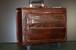 Pilot leather trolley