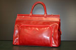 Classical leather travel bag