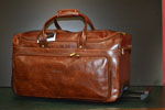 Exclusive leather travel trolley large
