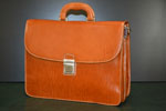 Leather briefcase classical